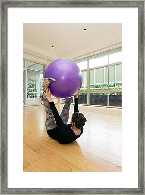 Pilates Framed Print by Daniel Sambraus