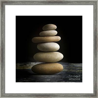 Pile Of Stones. Framed Print