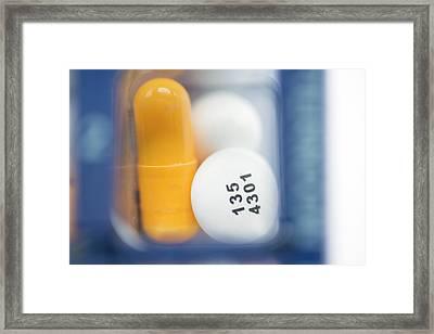 Pill Organiser Framed Print by Dr P. Marazzi