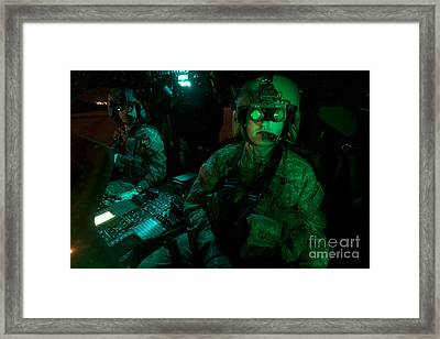 Pilots Equipped With Night Vision Framed Print