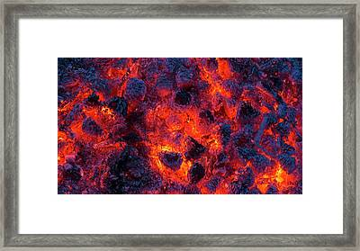 Pine Cones Burning In A Forest Fire Framed Print by Kaj R. Svensson