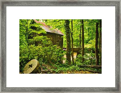 Pine Run Grist Mill Framed Print by Priscilla Burgers