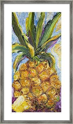 Pineapple Framed Print by Paris Wyatt Llanso
