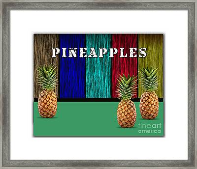 Pineapples Framed Print by Marvin Blaine