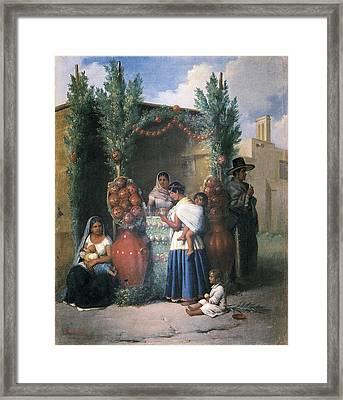 Pingret, Edouard 1788-1875. Mid. Mid Framed Print by Everett