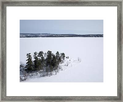 Pinheys Point In Winter, Dunrobin Framed Print