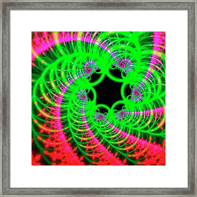 Pink And Green Patterns Framed Print by Mehau Kulyk