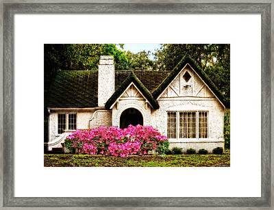 Pink Azaleas - Old Southern Charm By Sharon Cummings Framed Print