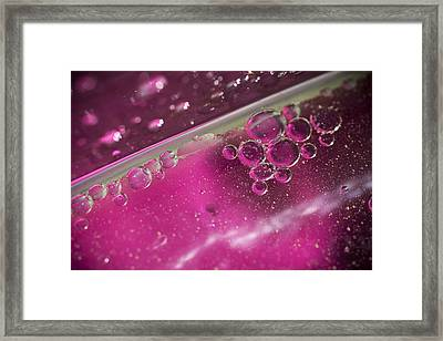 Pink Bubbles Framed Print by Samuel Whitton