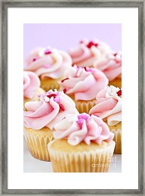 Pink Cupcakes Framed Print