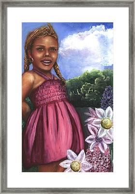 Pink Dress Framed Print by Alga Washington
