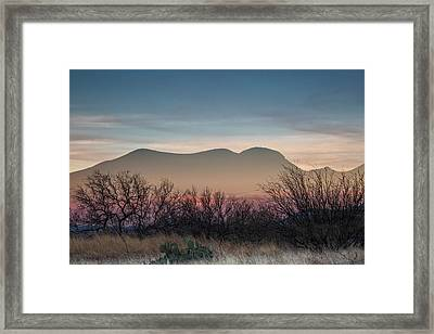 Pink In The Valley Framed Print by Beverly Parks
