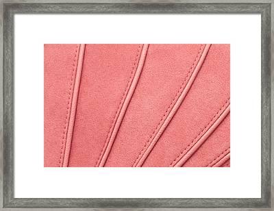 Pink Moleskin Framed Print