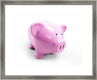 Pink Piggy Bank Framed Print by Sebastian Kaulitzki