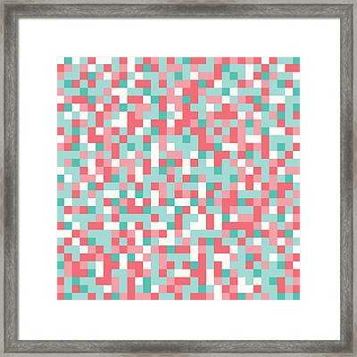 Pink Pixel Art Framed Print by Mike Taylor