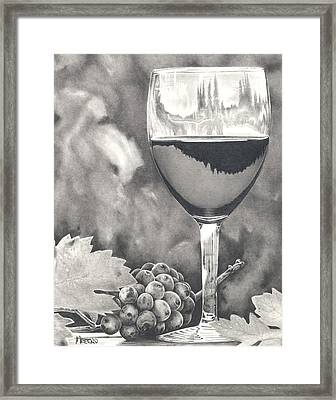 Pinot Adoration Framed Print