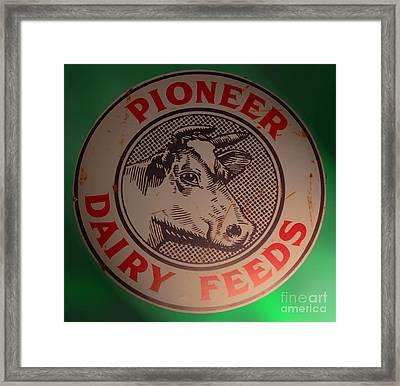 Pioneer Dairy Feeds Framed Print