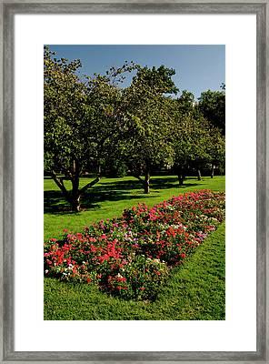 Pioneer Park, Walla Walla, Washington Framed Print