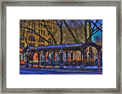 Pioneer Square - Seattle Framed Print