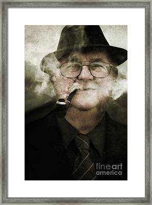 Pipe Dream Of A Crime Scene Investigator Framed Print by Jorgo Photography - Wall Art Gallery