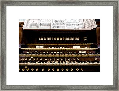 Pipe Organ Console, The Temple Framed Print by Panoramic Images