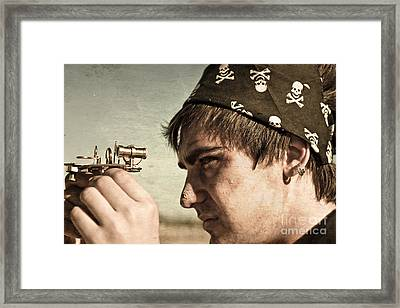 Pirate And Compass Framed Print