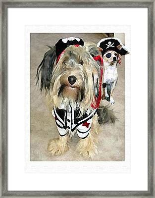 Pirate Dogs Framed Print by Jane Schnetlage