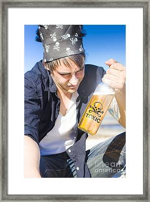 Pirate With Toxic Rum Framed Print by Jorgo Photography - Wall Art Gallery