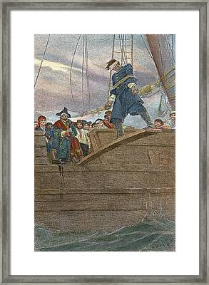 Pirates Walking The Plank Framed Print by Granger