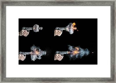 Pistol Shot Framed Print by Herra Kuulapaa � Precires