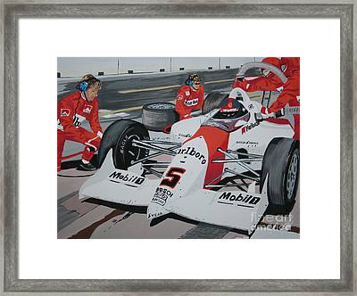Pit Stop Framed Print by Stacy C Bottoms