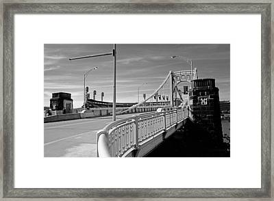 Pittsburgh - Roberto Clemente Bridge Framed Print by Frank Romeo