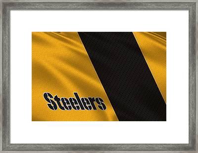 Pittsburgh Steelers Uniform Framed Print by Joe Hamilton