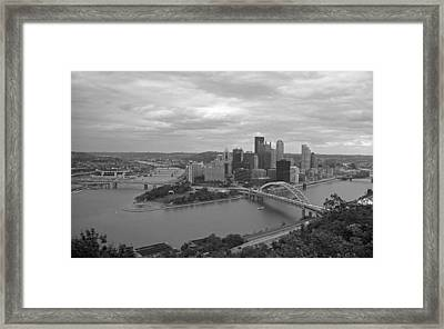 Pittsburgh - View Of The Three Rivers Framed Print