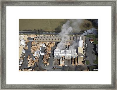 Piveteau Saw Mill, Sainte Florence Framed Print by Laurent Salomon