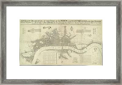 Plan Of London Framed Print
