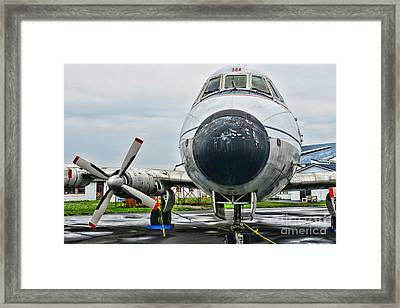 Plane Noses Up Framed Print by Paul Ward