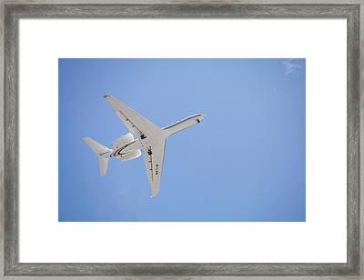 Planes Flying Into Sydney Framed Print by Ashley Cooper