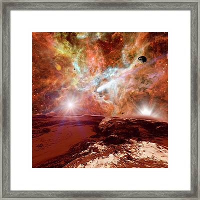 Planet Forming In A Nebula Framed Print