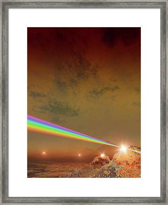 Planet Made Of Diamond Framed Print