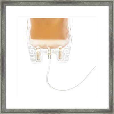 Plasma Bag Framed Print