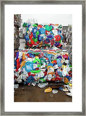 Plastic For Recycling Framed Print by Jim West