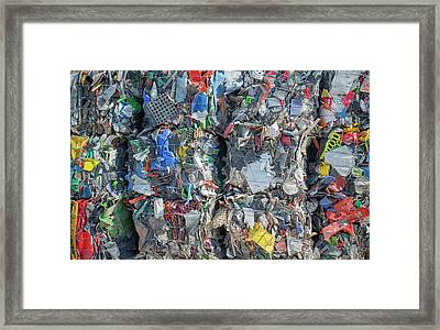 Plastic Recycling Framed Print by Robert Brook