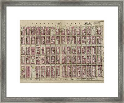 Plate 28 Bounded By Fifth Avenue, E. 80th Street Framed Print by Litz Collection