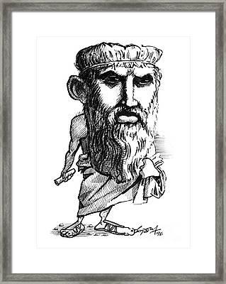 Plato, Caricature Framed Print