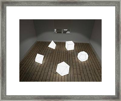 Platonic Solids Framed Print
