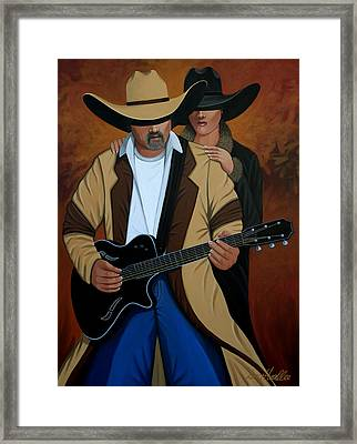 Play A Song For Me Framed Print by Lance Headlee