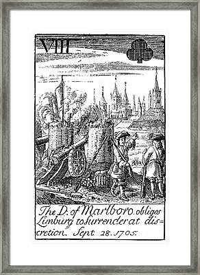 Playing Card, 1707 Framed Print by Granger