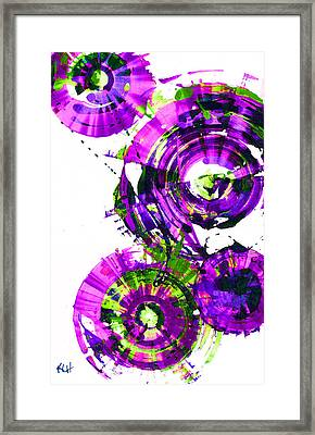 Framed Print featuring the digital art Playing In The Wind 1000.042312 - Popart-3 by Kris Haas