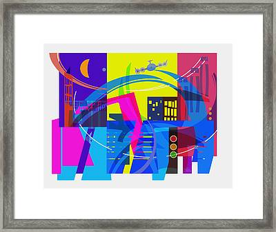 Playing Shapes City 01 Framed Print